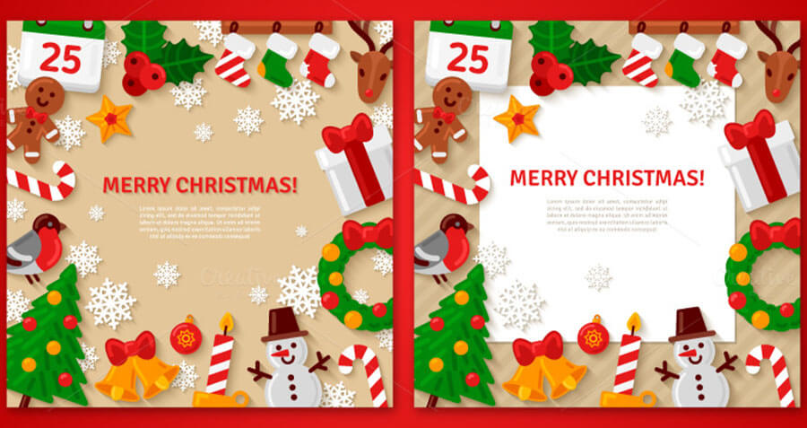Christmas Flat Backgrounds