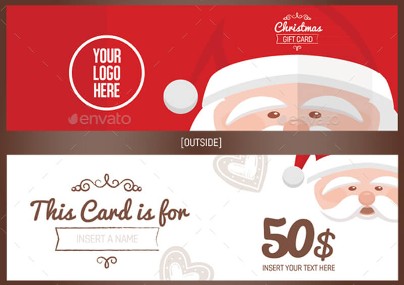 Christmas Gift Card Illustration Template ...  Christmas Gift Vouchers Templates