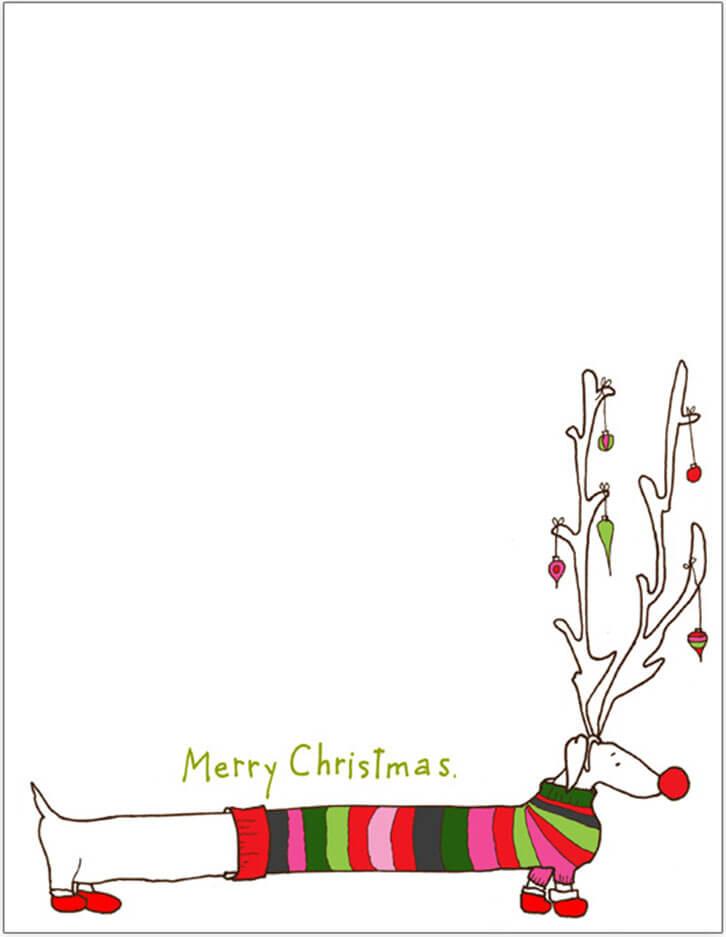 Christmas Letter Blank Template