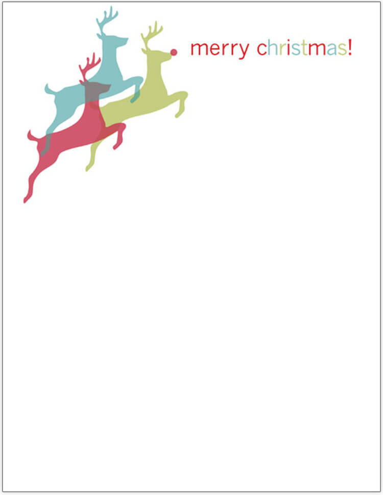 Christmas Letter With Leaping Deer