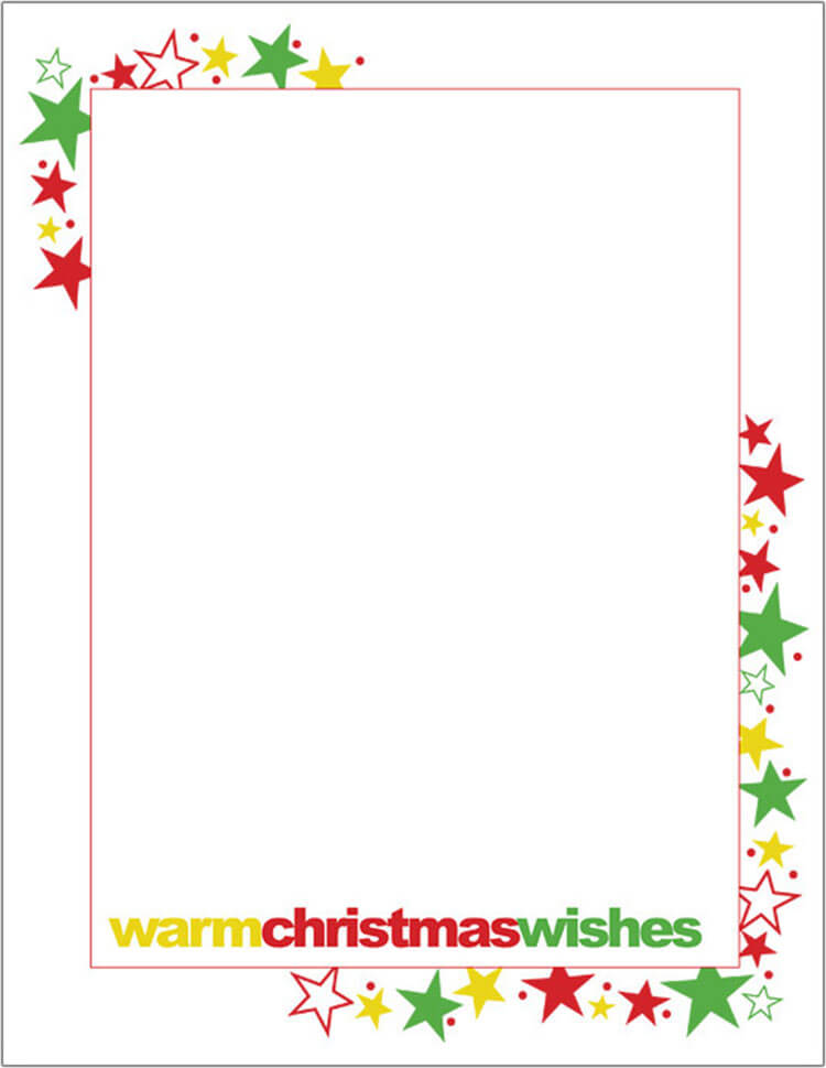 Christmas Letter With Stars