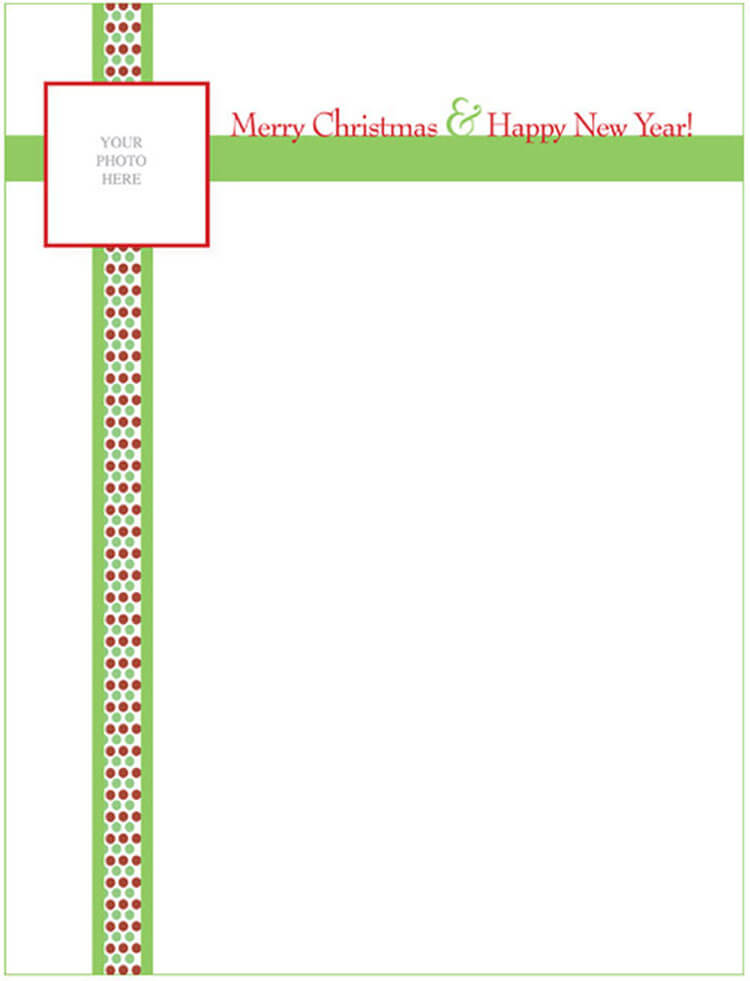 Christmas Letter Woth Ribbon