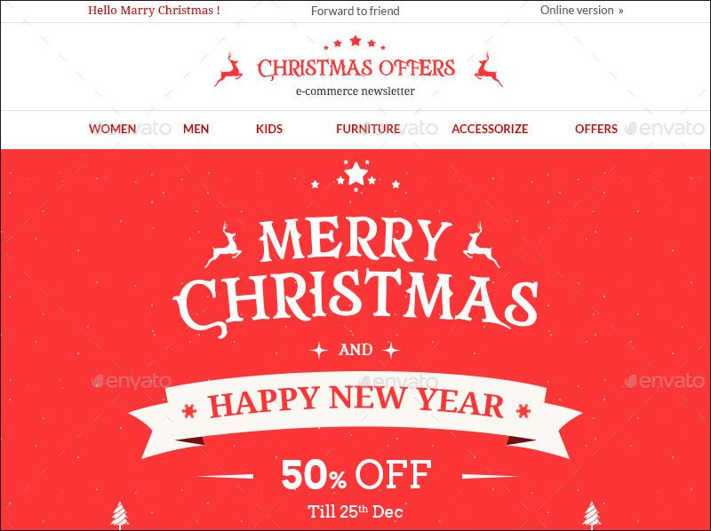 Christmas Offers E-commerce & E-newsletter