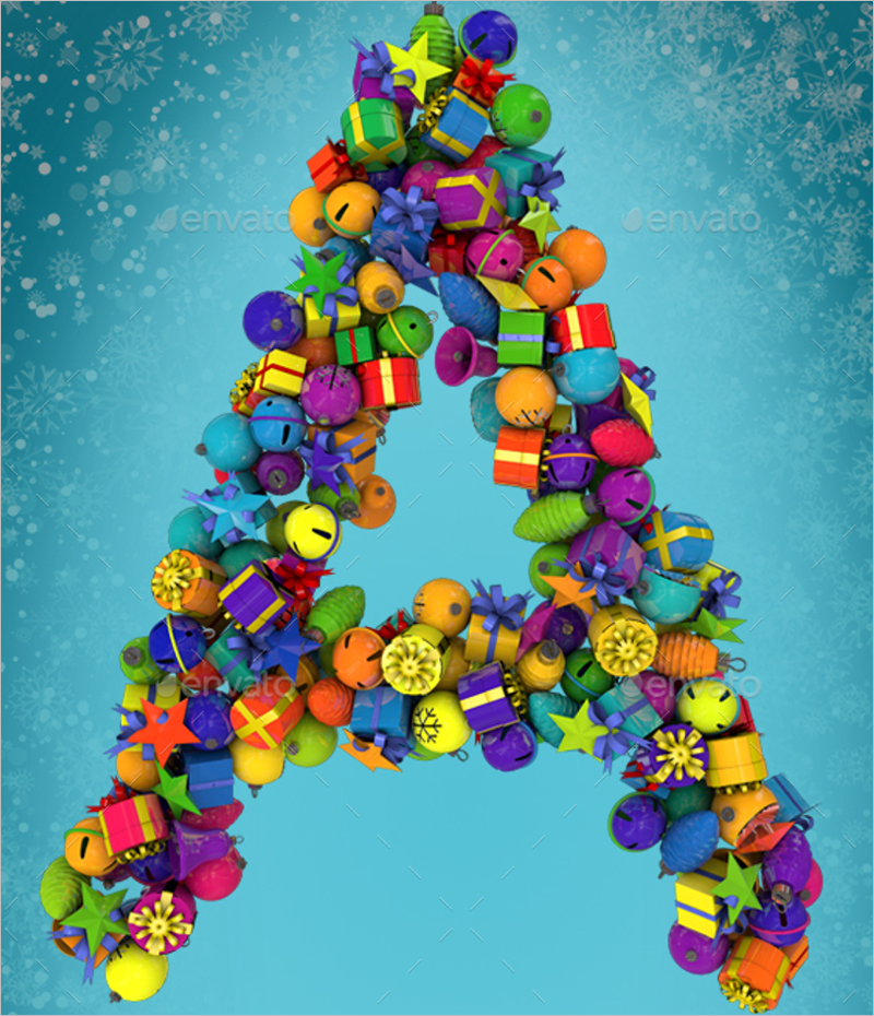 Christmas Ornament For Letters