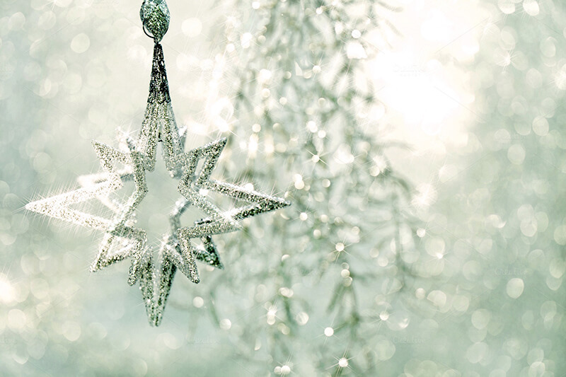 Christmas Ornament Silver Star