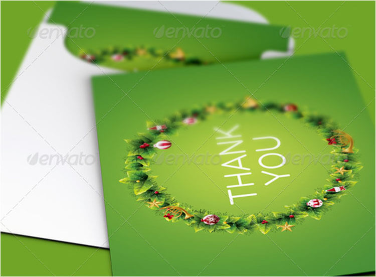 Christmas Ornament Thank You Card Template