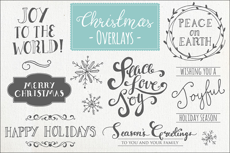 Christmas Overlays Vector