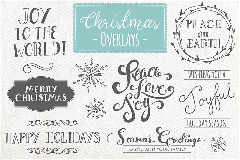 Christmas Overlays Vector