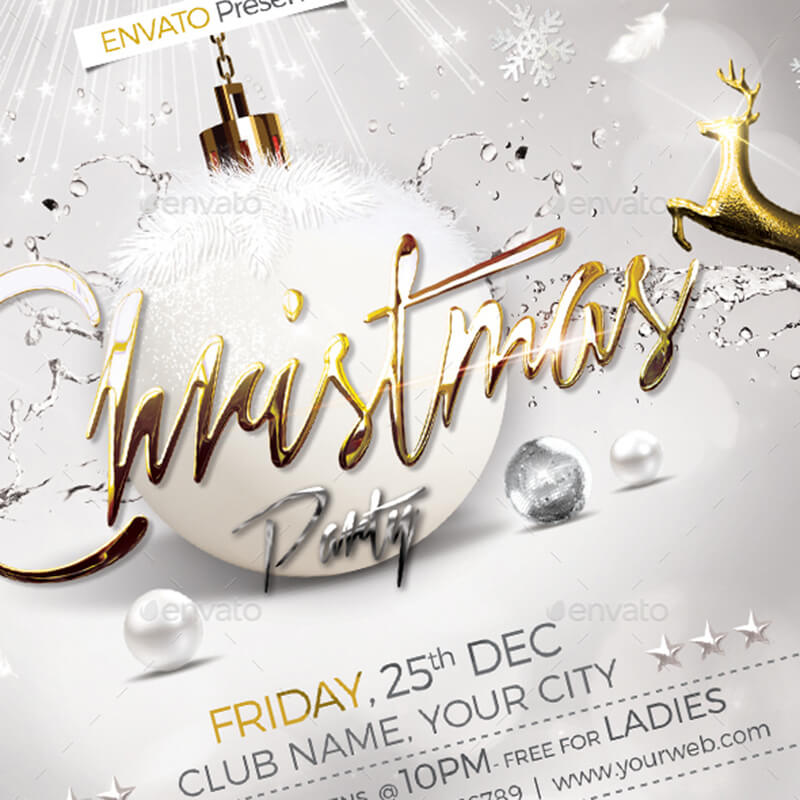 Christmas Party Flyer Templates Psd Designs Free Premium