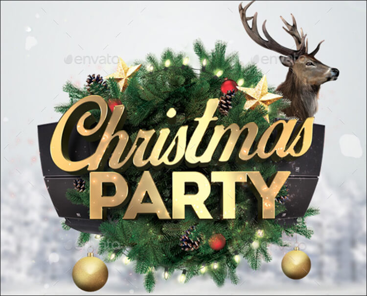 Christmas Party Flyer Desine