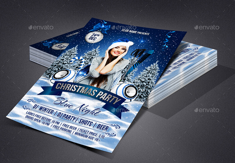 Christmas Party Flyer PSD