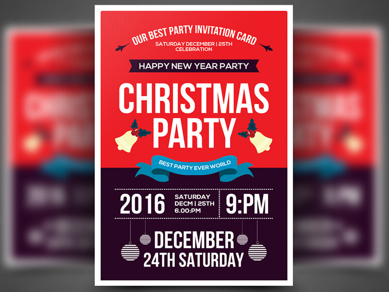 Christmas Party Flyer Templates Free Salahraeroproject