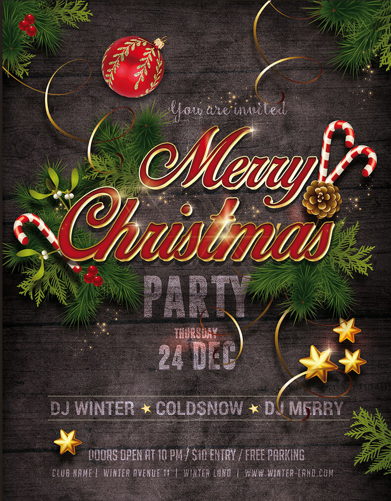 christmas party flyer templates psd designs premium christmas party model flyer