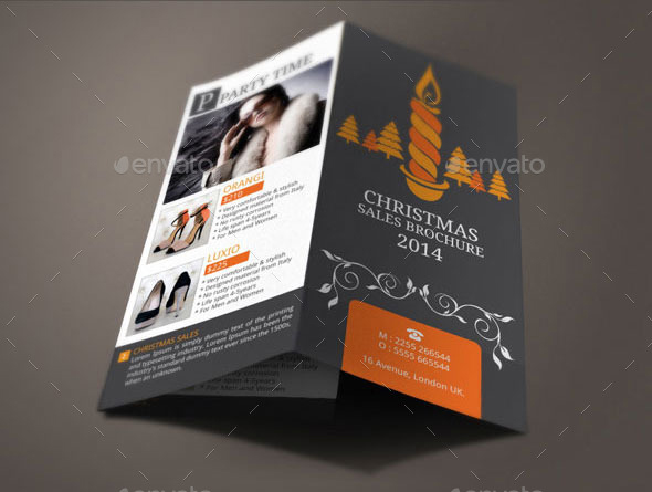Christmas Brochure Templates Free PDF PSD Creative Template - Sales brochure template