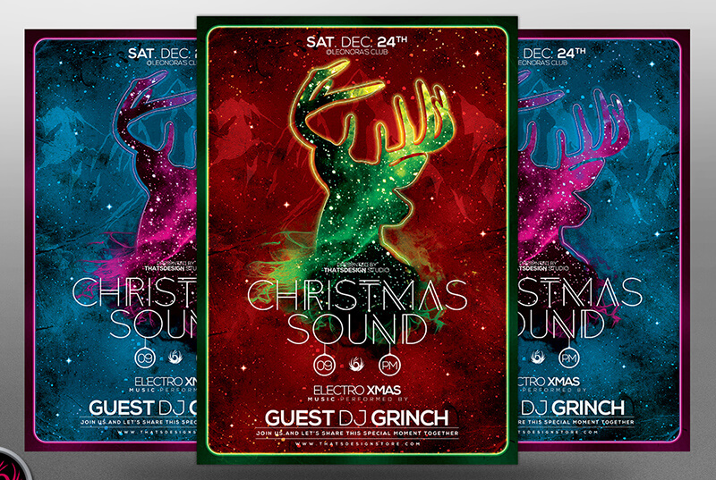Christmas Sound Flyer Template