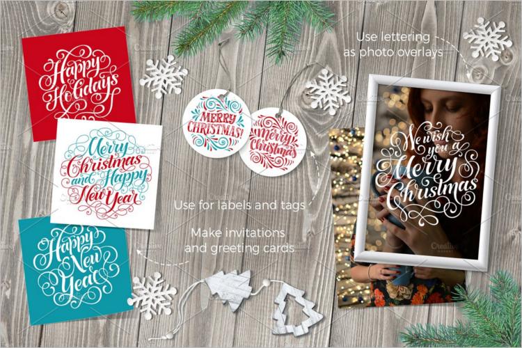 Christmas Thank You Card Word