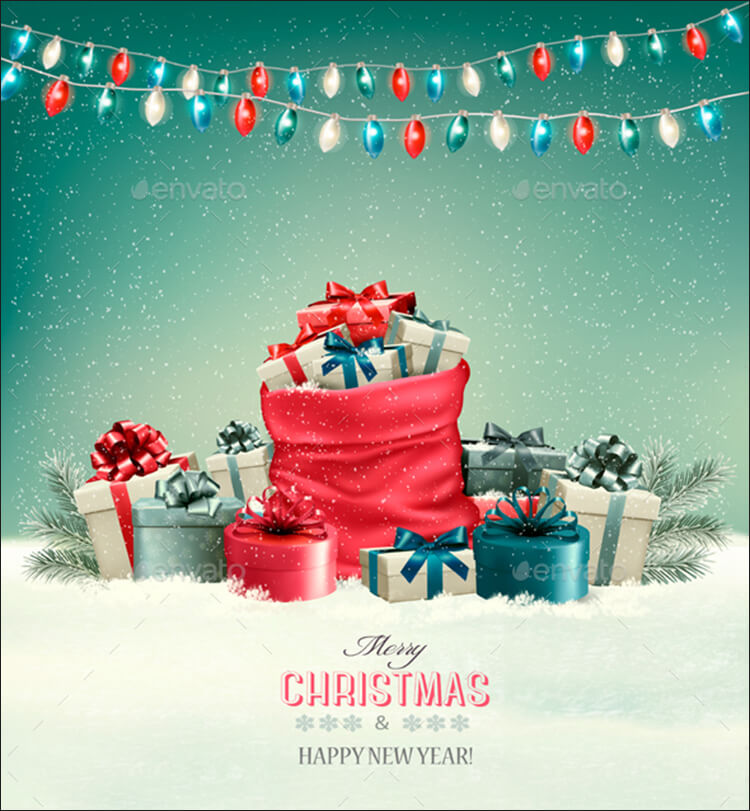Christmas Vector Background Gifts