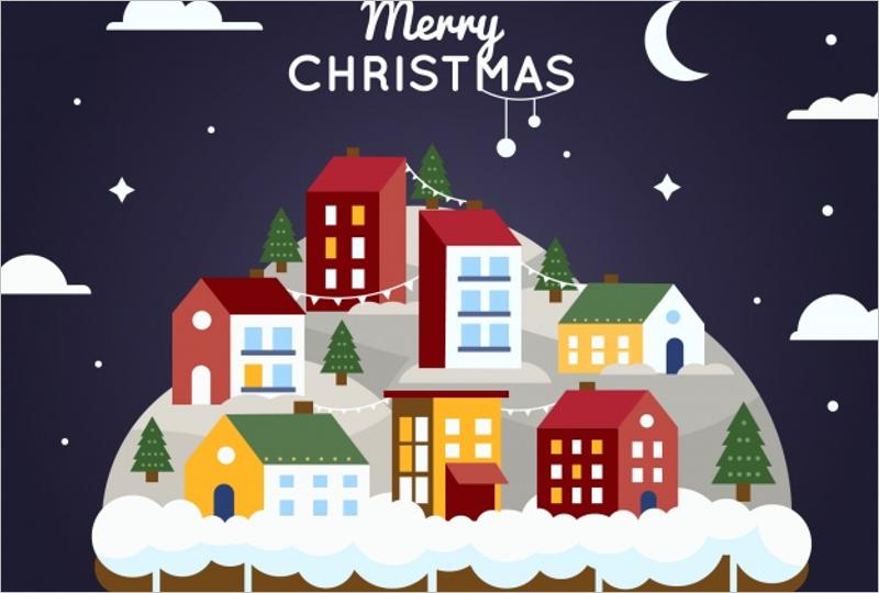 Christmas Village Background Design