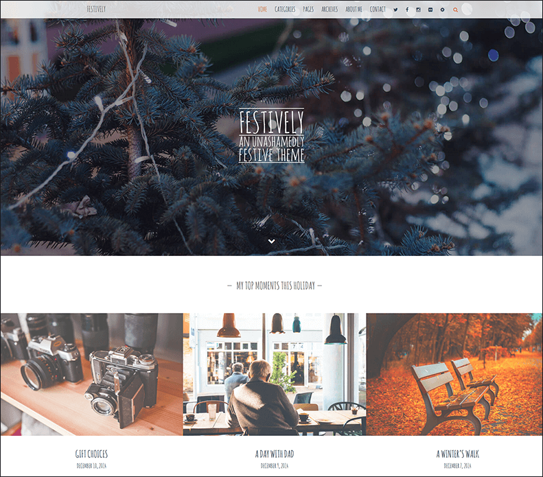 Amazing WordPress Themes for 2015 Christmas - Free and Premium Themes 02