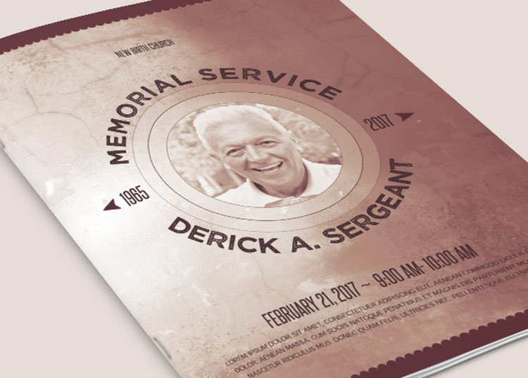 Chronicle Funeral Program Template