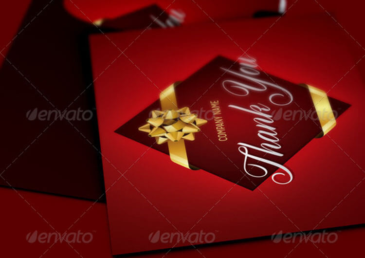 Company Christmas Thank You Card Template