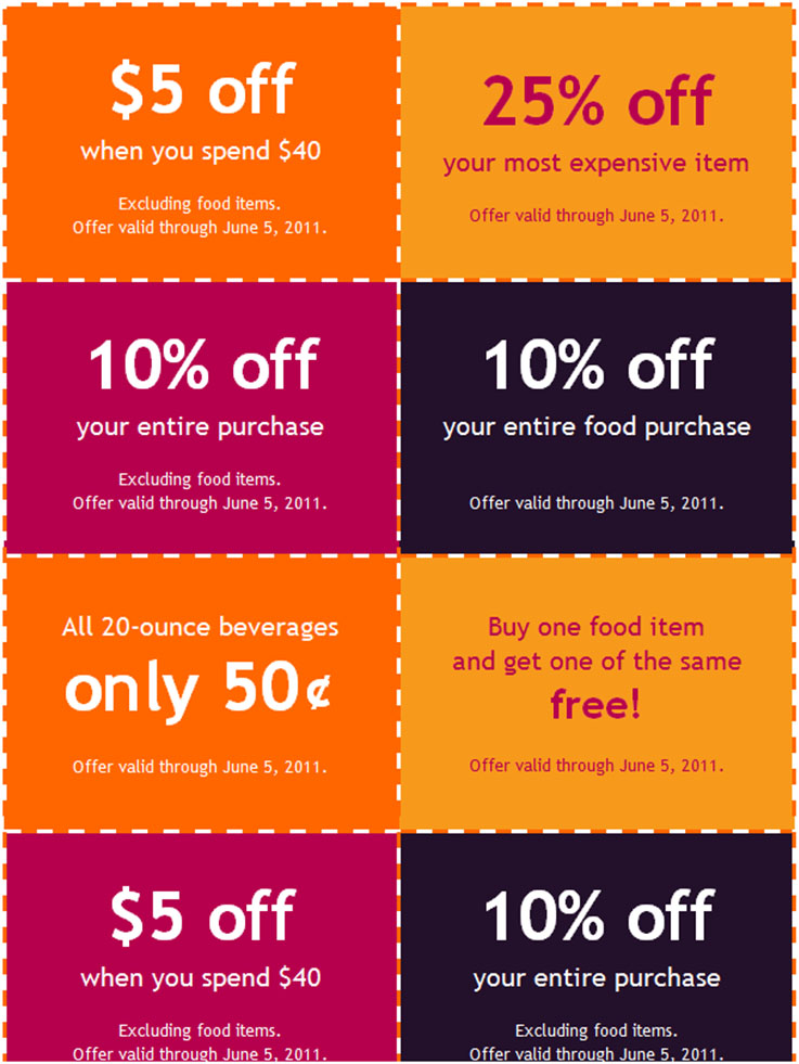 Coupon Booklet Template  Coupon Flyer Template