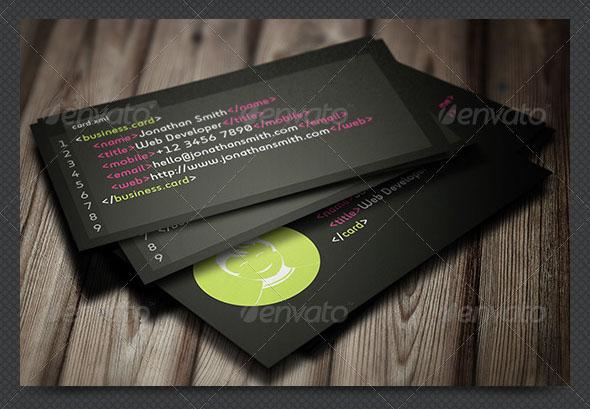 Developer Business Card Template
