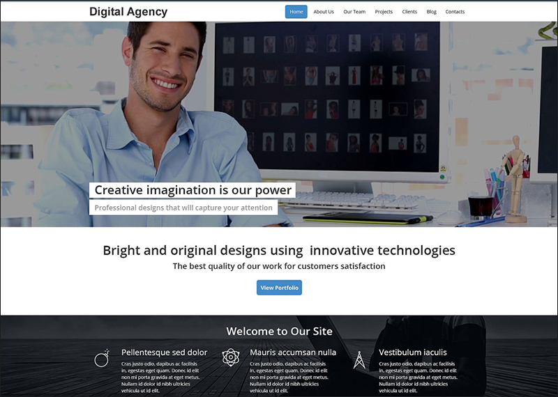 Digital Agency Drupal HTML5 Template