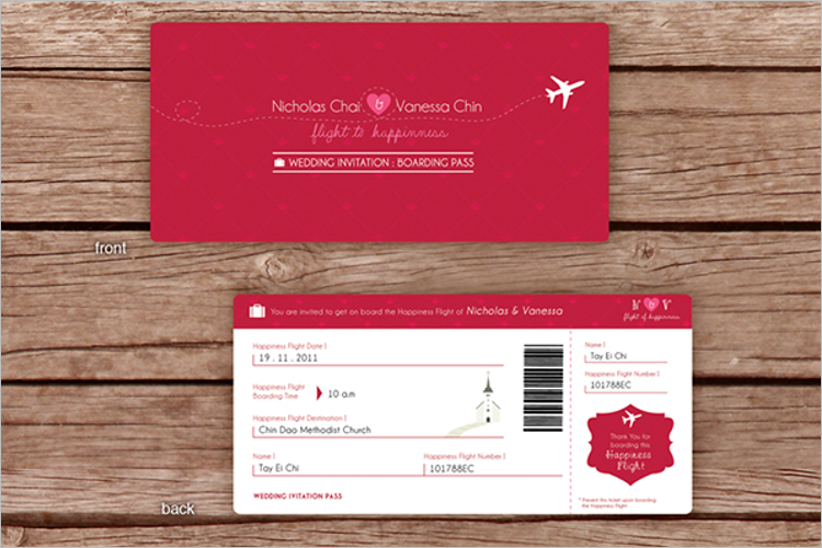 27 Boarding Pass Invitation Templates Free Psd Format Download