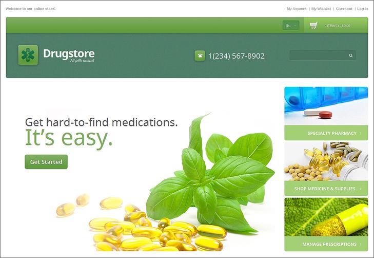 Drug Store Responsive Magento Theme