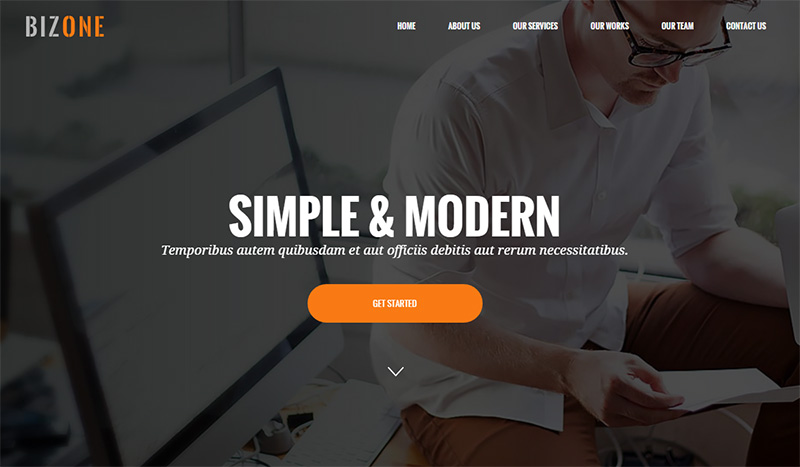 Drupal One Page Theme