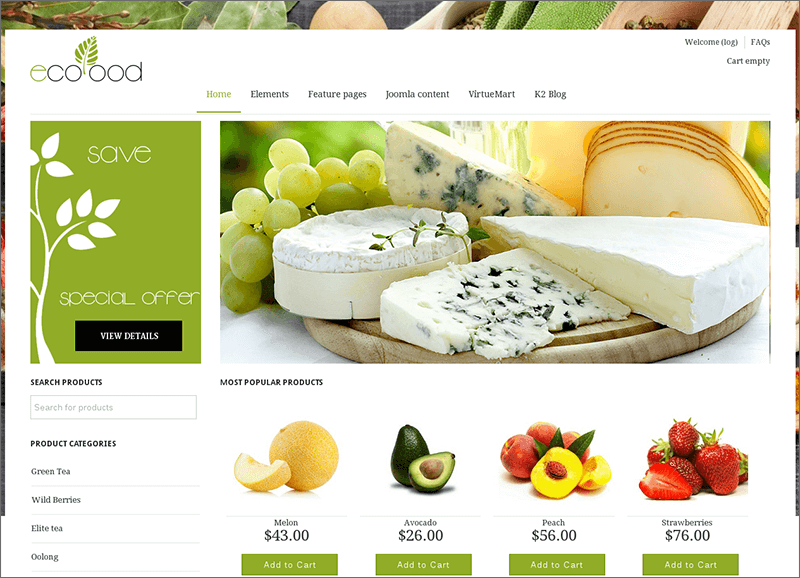 Ecommerce VirtueMart 3 Template