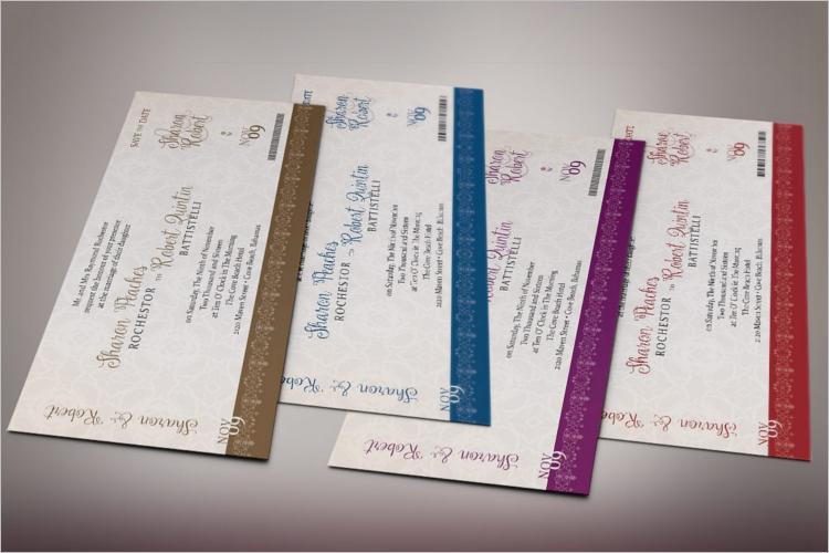 Editable Boarding Pass Invitation Template