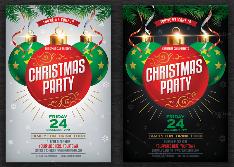 Editable Christmas Party Flyer