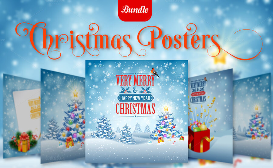 Editable Christmas Posters