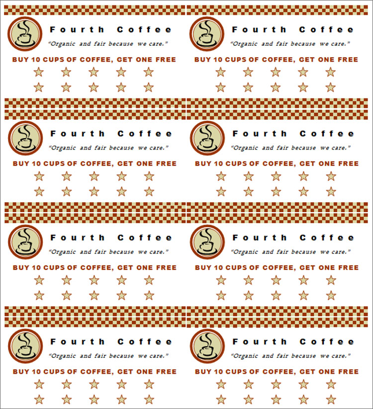 Coupon Book Templates Free PSD Vector EPS Format – Free Coupon Book Template