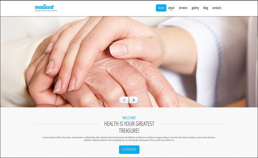 Elderly Care Drupal HTML Template