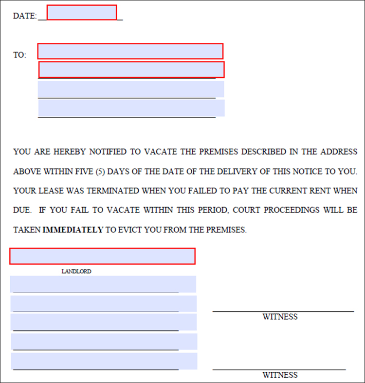 Lease Termination Letter Template  Free Word Pdf Documents