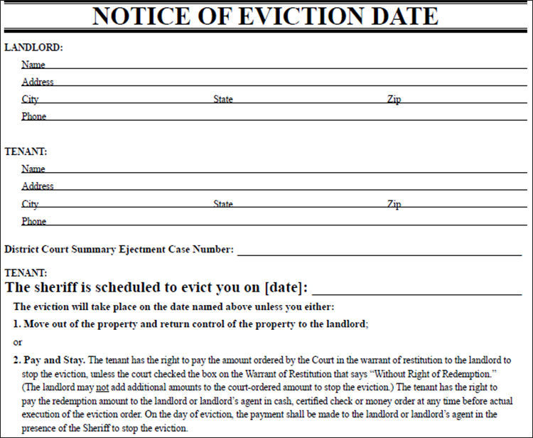 Eviction Notice Template Free ...  Free Eviction Template