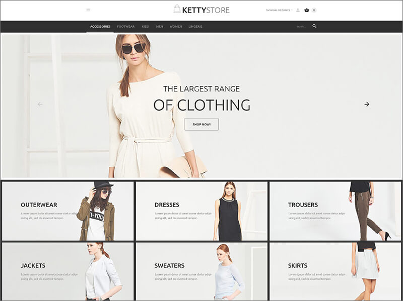 Fashion Apparel Online Store VirtueMart Template
