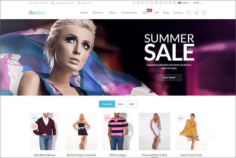 Fashion Ecommerce Magento Template