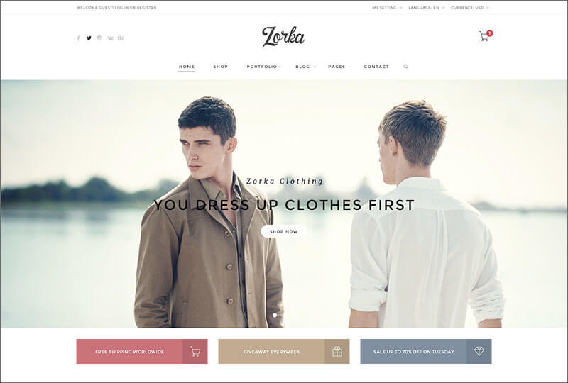 Fashion eCommerce Magento Theme