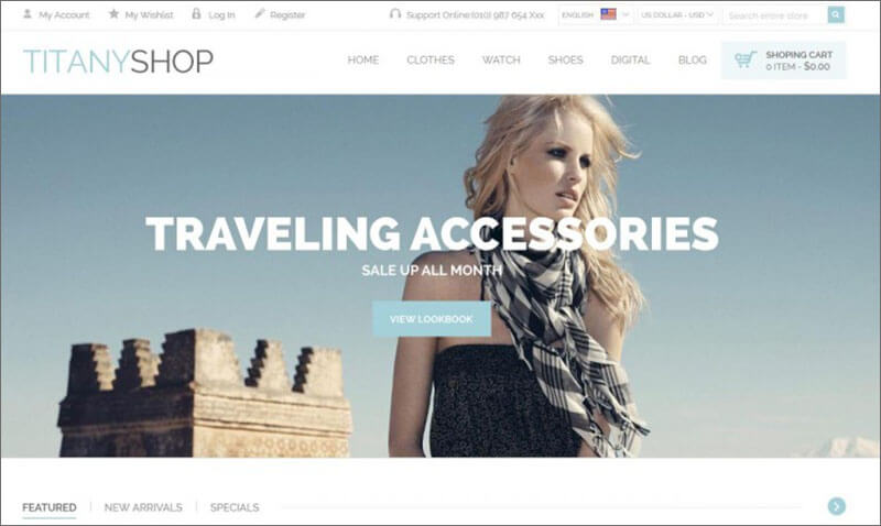 Fashon Boutique Magento Theme