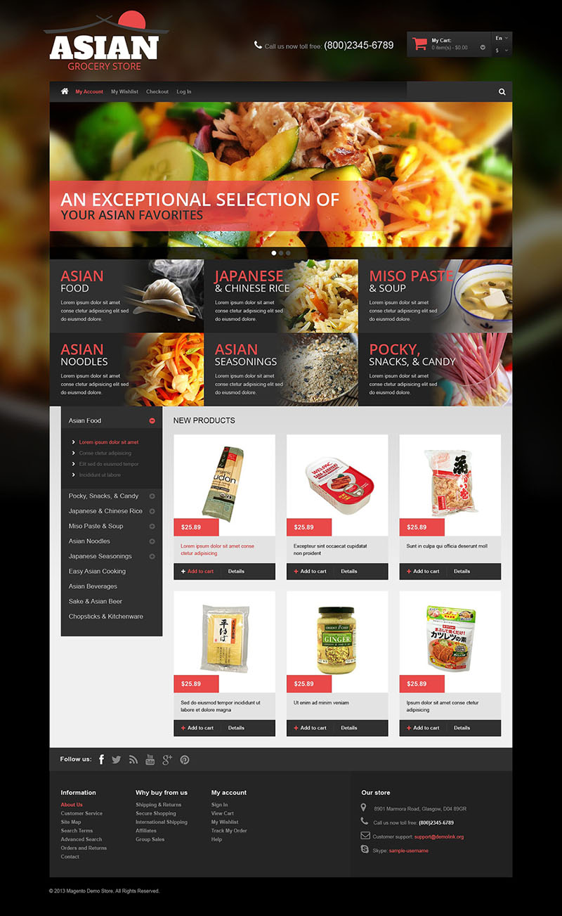 Food & Restaurant Magento Theme
