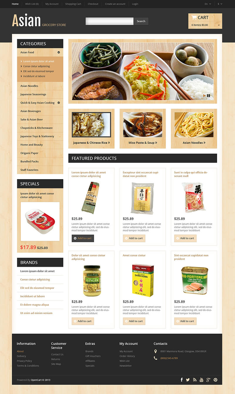 Food & Restaurant OpenCart Template