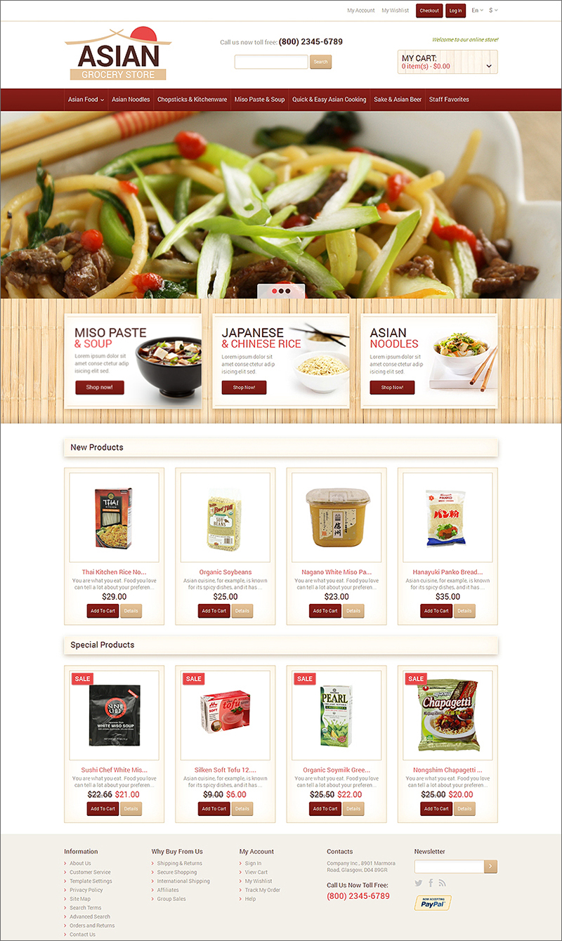 Food Shop Magento Theme
