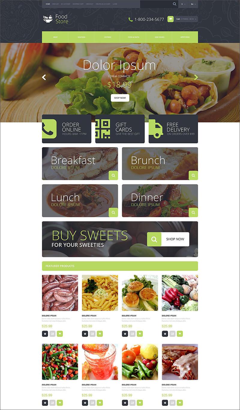 Food Shop OpenCart Template