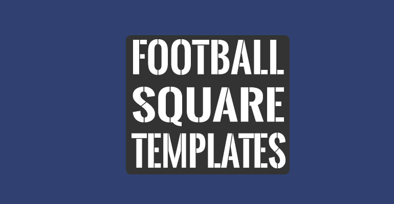 Football Square Templates