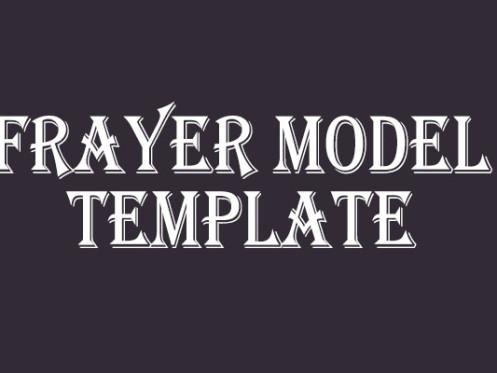 7 Frayer Model Templates Free Amp Premium Creative Template