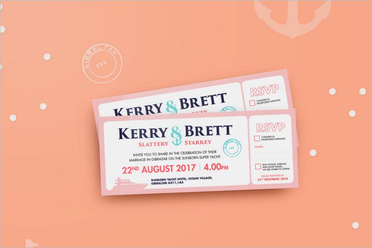 Free Boarding Pass Invitation Card Design